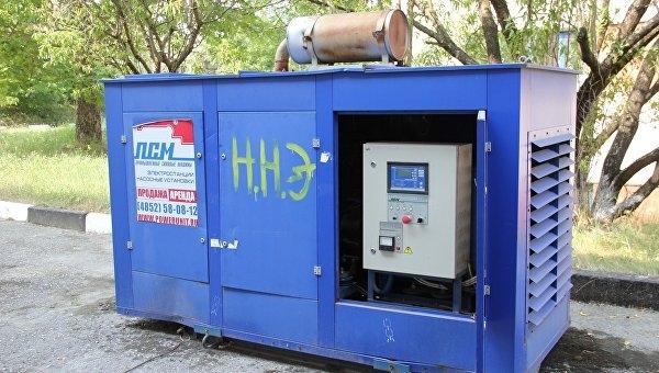 Аксенов требует в кратчайшие сроки подключить все генераторы, переданные в Крым