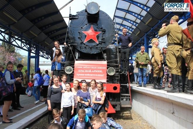 В Севастополь прибыл поезд Победы (фото, видео)