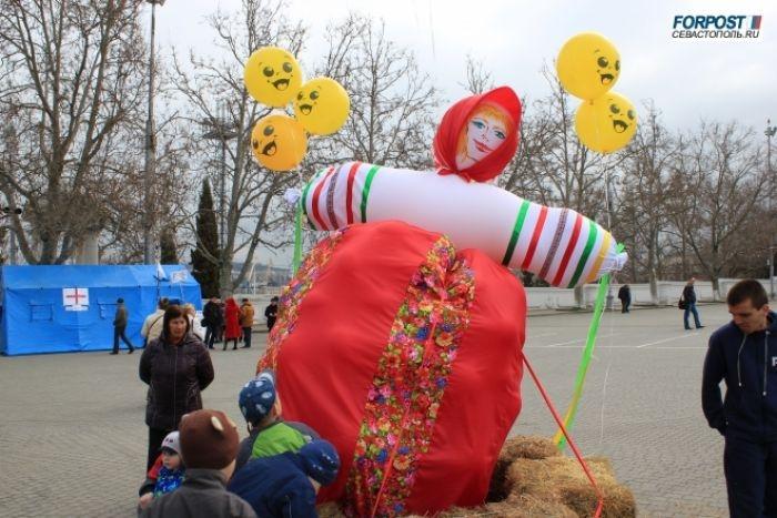 Как в Севастополе зиму провожали (видео)