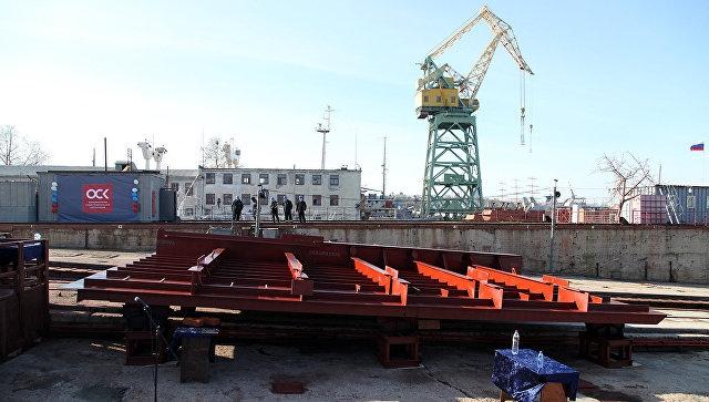 «Севморзавод» заложил первый за 12 лет плавкран