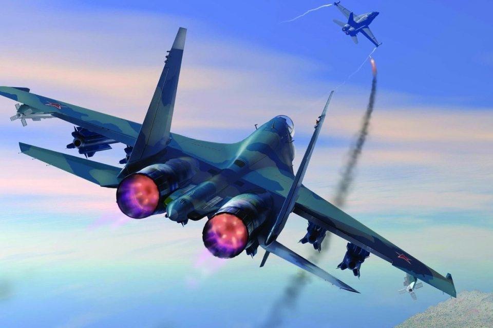 В Сети появилось видео перехвата американского самолета-разведчика над Черным морем