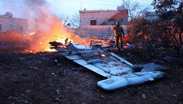 В Сирии сбит российский самолет Су-25, пилот погиб в бою с террористами