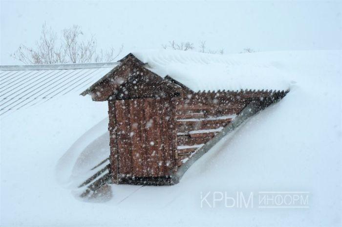 В Симферополе уже выпало восемь сантиметров снега