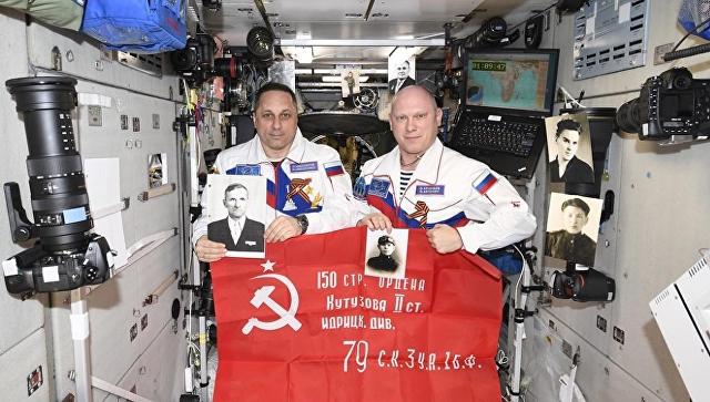 Севастополец Антон Шкаплеров присоединился к акции «Бессмертный Полк» в космосе