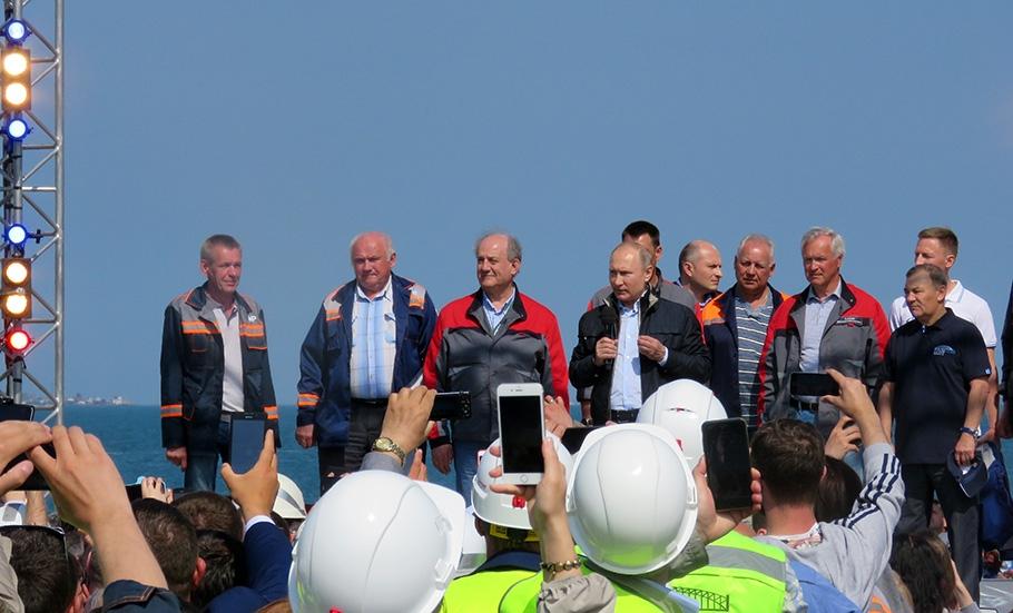 В Сети появилось полное видео церемонии открытия Крымского моста
