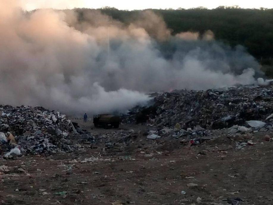 На горевшем полигоне в Первомайской балке нашли пожароопасные нарушения