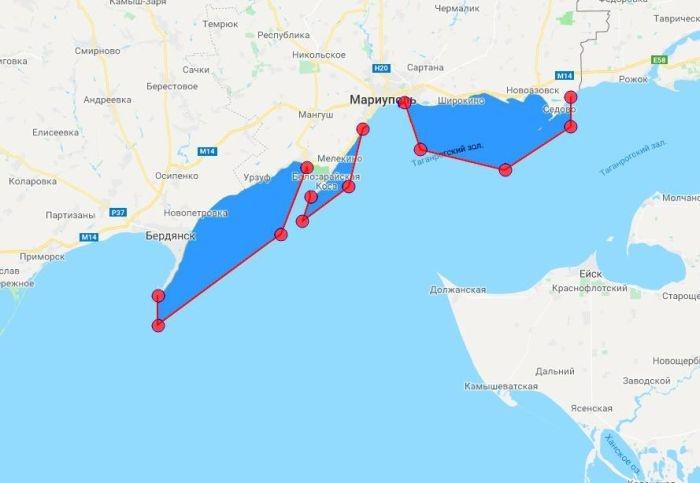 На Украине закрыли три района Азовского моря для проведения стрельб