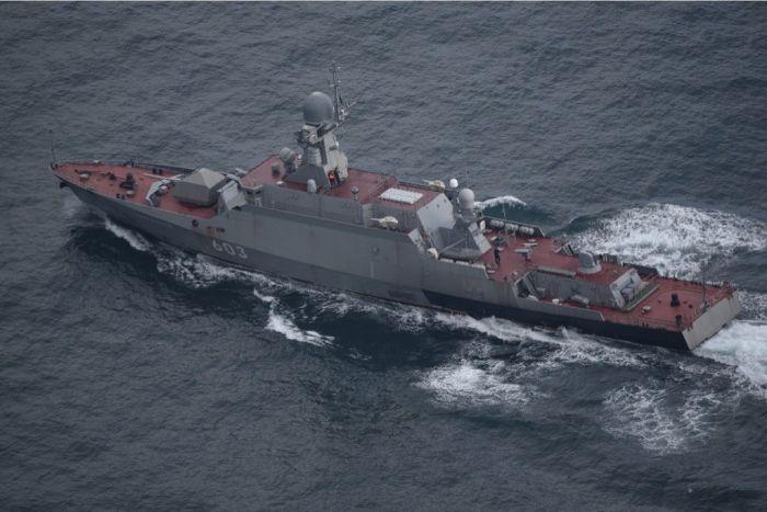 Украинские СМИ заявляют о перехвате российского корабля в Черном море