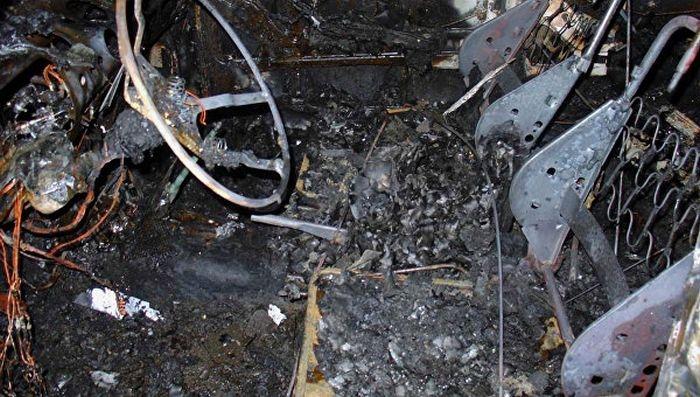 Ночью в Евпатории сгорел автомобиль