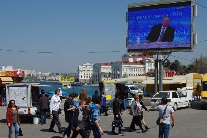 Севастопольцы увидят «Прямую линию с Владимиром Путиным» на городских экранах