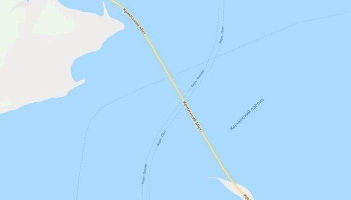 Крымский мост на картах Google подписали на украинском языке