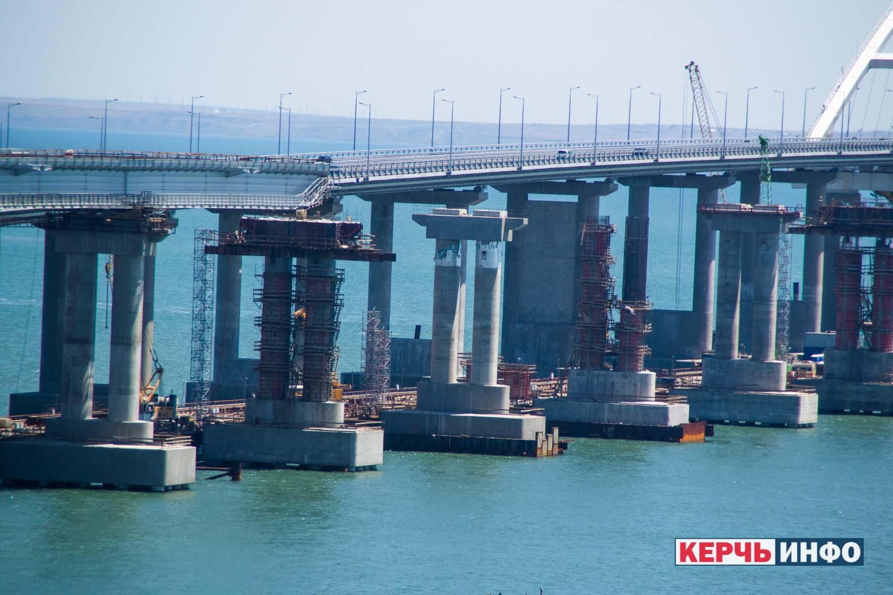 Как продвигается стройка железнодорожной части Крымского моста – видео