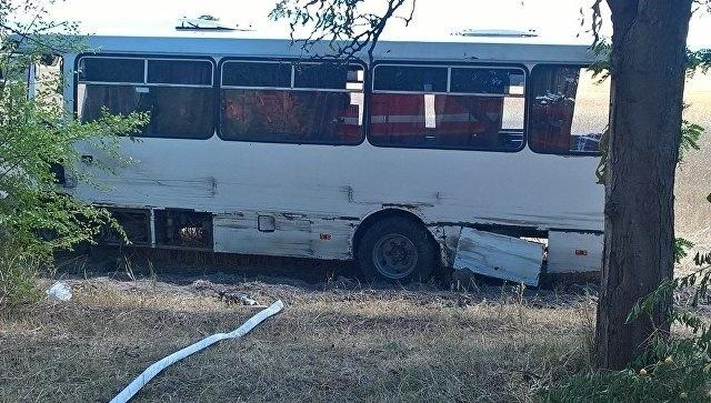 В Крыму иномарка врезалась в рейсовый автобус — есть пострадавшие