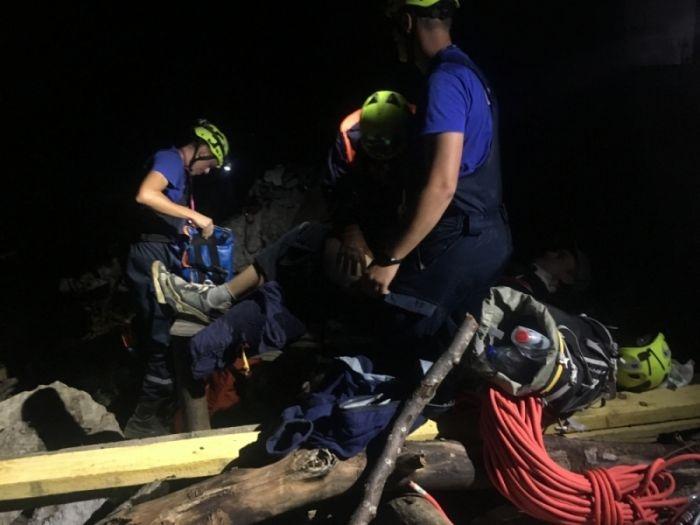 В Крымских горах турист получил травму головы и конечностей