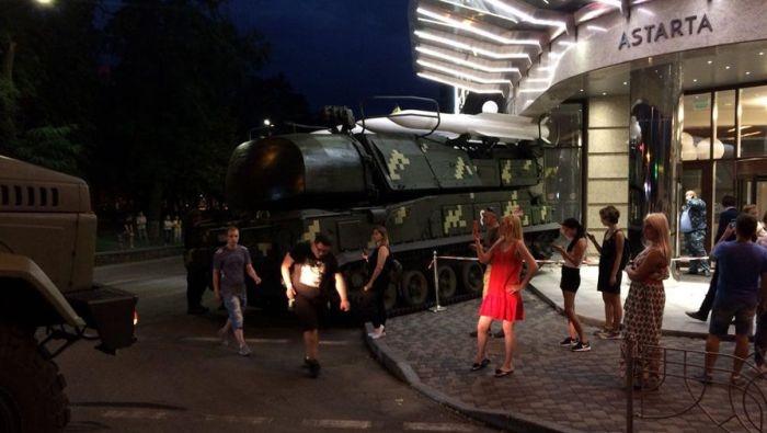 В Киеве ЗРК «Бук» врезался в бизнес-центр