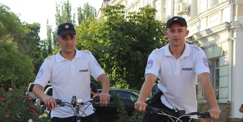 В Крыму появился полицейский велопатруль