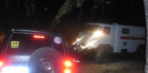 Две женщины и два ребенка сорвались ночью на автомобиле в кювет