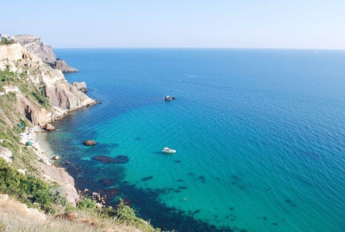 Блог путешественника по Крыму: райский пляж Баунти на Фиоленте