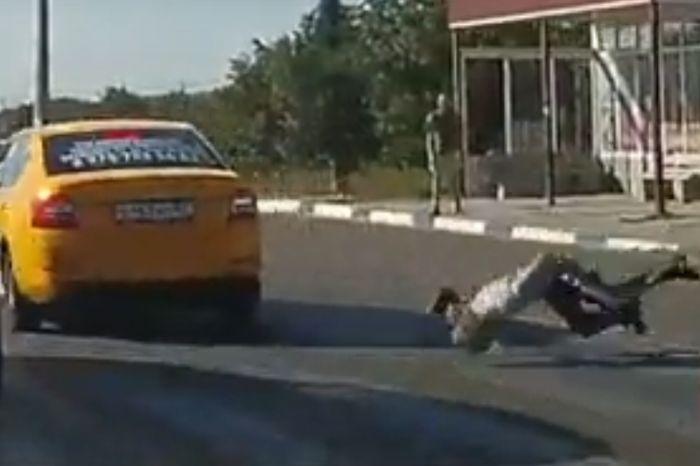В Симферополе таксист на полной скорости сбил пешехода