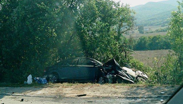 ДТП в Крыму: две машины от удара «выбросило» в кювет, есть пострадавшие