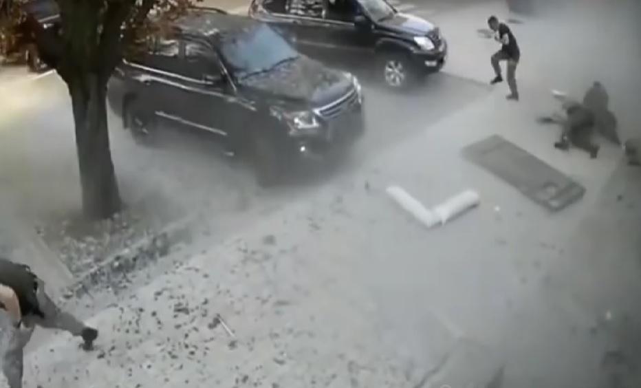 Опубликовано видео момента взрыва, в котором погиб Захарченко