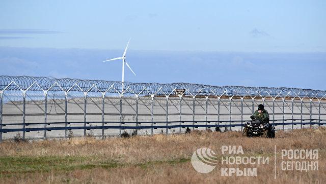 Границу между Крымом и Украиной отделили 60-километровым забором с тепловизорами