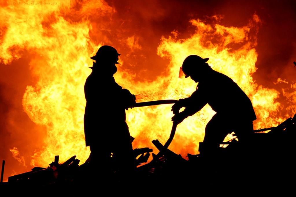 В Крыму в результате сильного пожара погиб человек