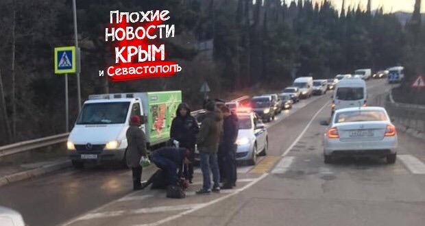 ДТП в Крыму: на пешеходном переходе сбили женщину