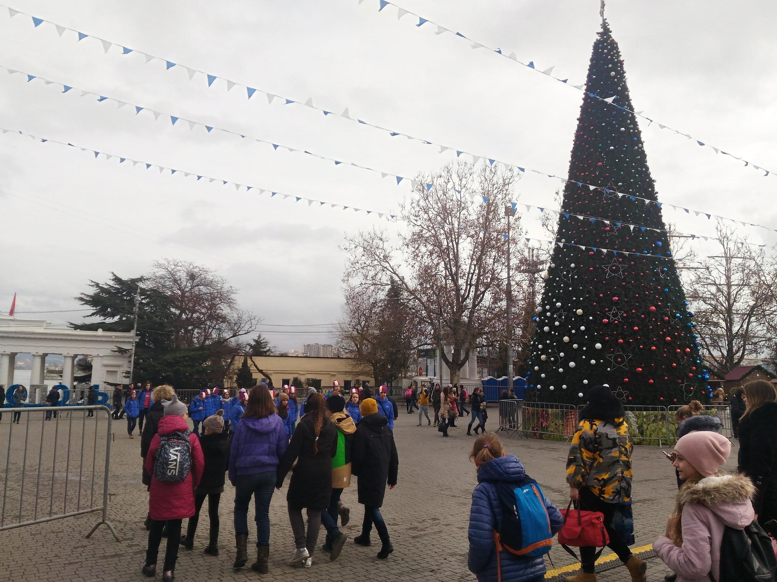 открытие городской елки в севастополе