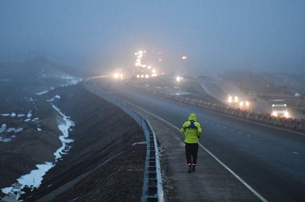 Марафонец завершил двухдневный забег по крымской трассе «Таврида»