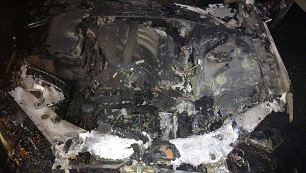 Ночью в Крыму сгорела машина