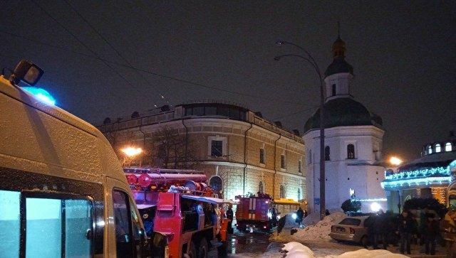 В Киево-Печерской лавре произошел крупный пожар