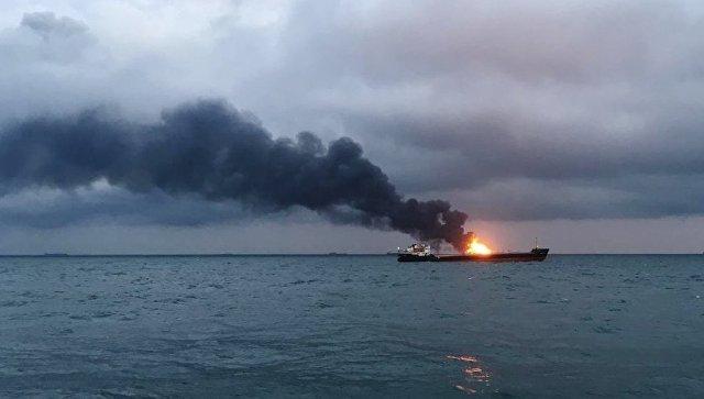 Пожар на двух танкерах в Черном море утихает — Росморречфлот