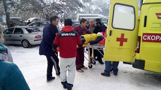 Ребенок получил травму во время катания на Ангарском перевале