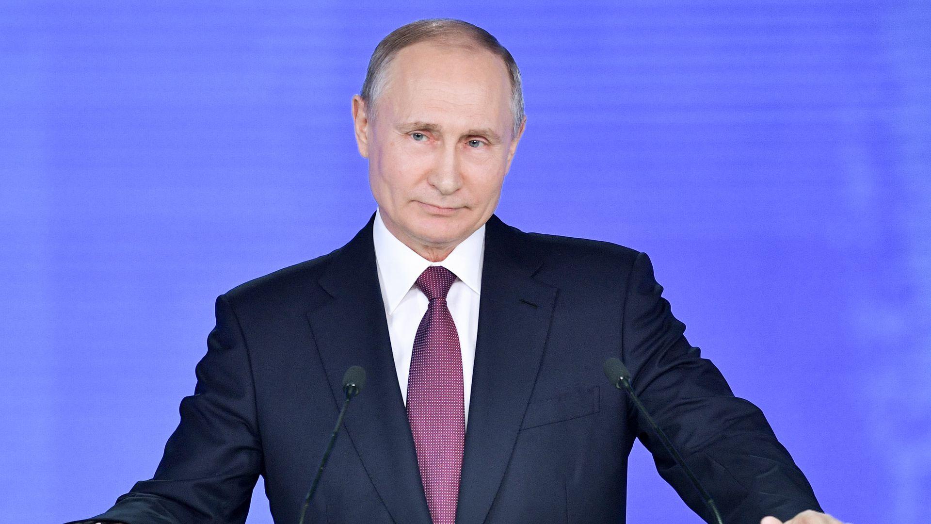 Владимир Путин выстрелил из пушки