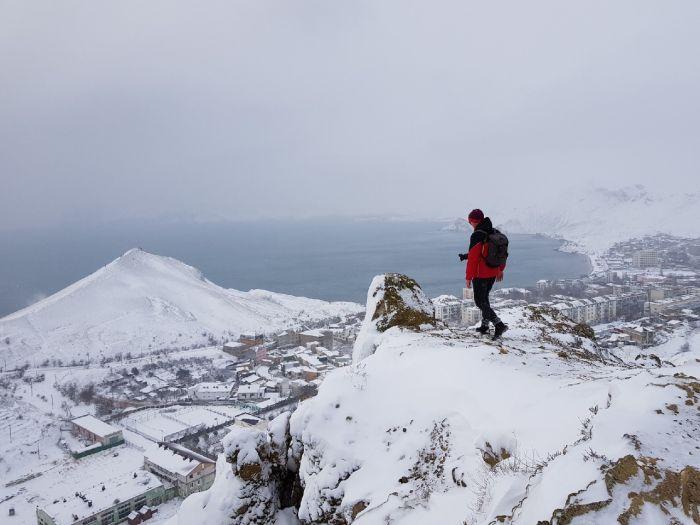 Блог путешественника по Крыму: заснеженный Орджоникидзе