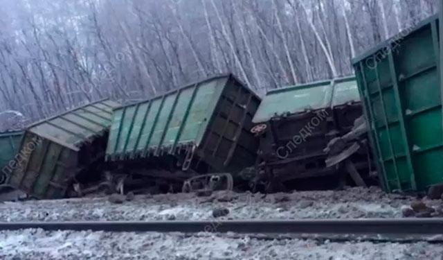 В Оренбургской области сошел с рельсов поезд