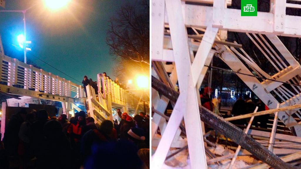 Число пострадавших при обрушении моста в московском Парке Горького увеличилось до 13 человек