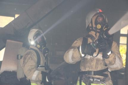На пожаре в Крыму пострадал мужчина