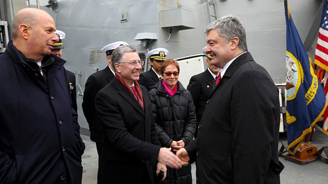 Порошенко на борту эсминца США в Крыму сравнили с «вождем туземцев»