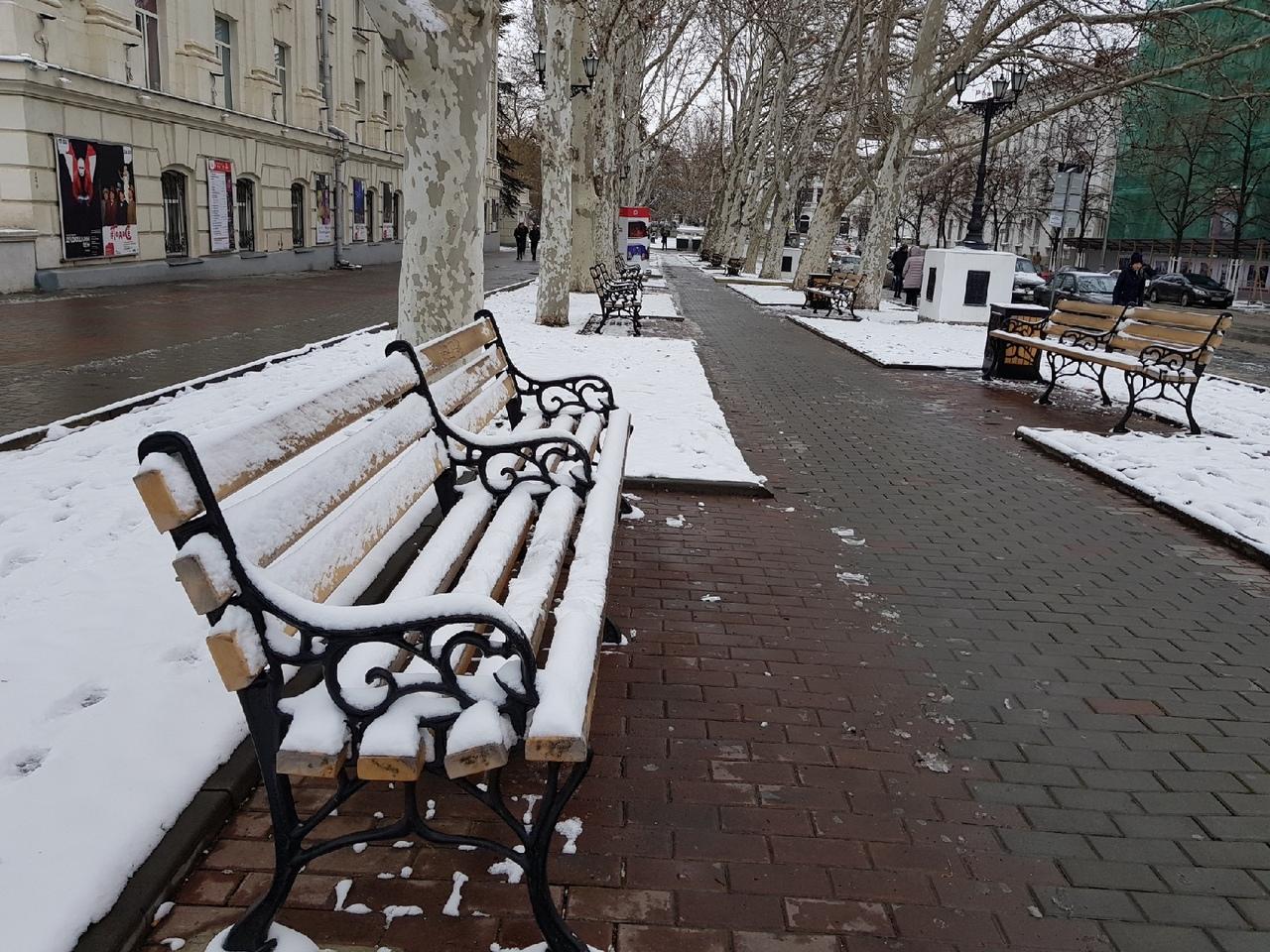 Заснеженный Севастополь глазами его жителей