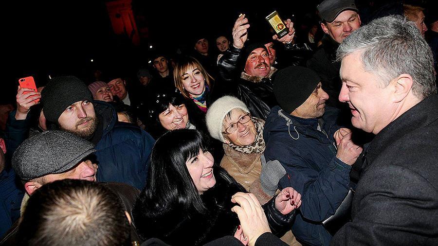 Порошенко на митинге случайно назвал Украину агрессором