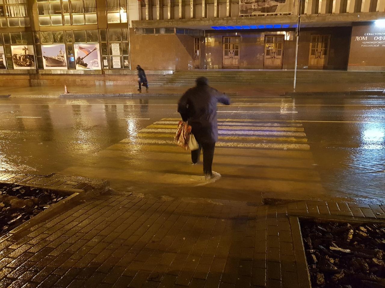 Кролем или брасом: севастопольцы выбирают способ перейти дорогу