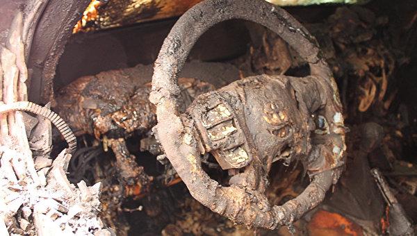 В Крыму дотла сгорела очередная легковушка