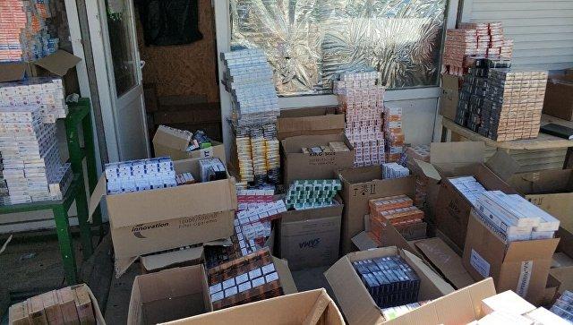 В Крыму у бизнесмена изъяли 16 тысяч «паленых» пачек сигарет