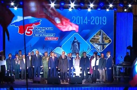 Владимир Путин поздравил крымчан и севастопольцев с пятилетием возвращения в Россию