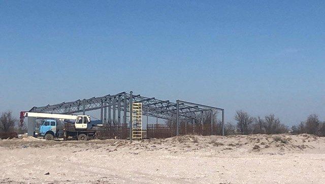 Скандальное строительство креветочной фермы в Крыму приостановлено