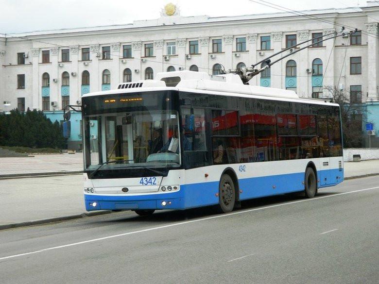 Очередной троллейбус Симферополя изменил маршрут