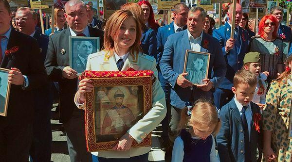 Поклонская сообщила о наказаниях за икону Николая II в колонне «Бессмертного полка»