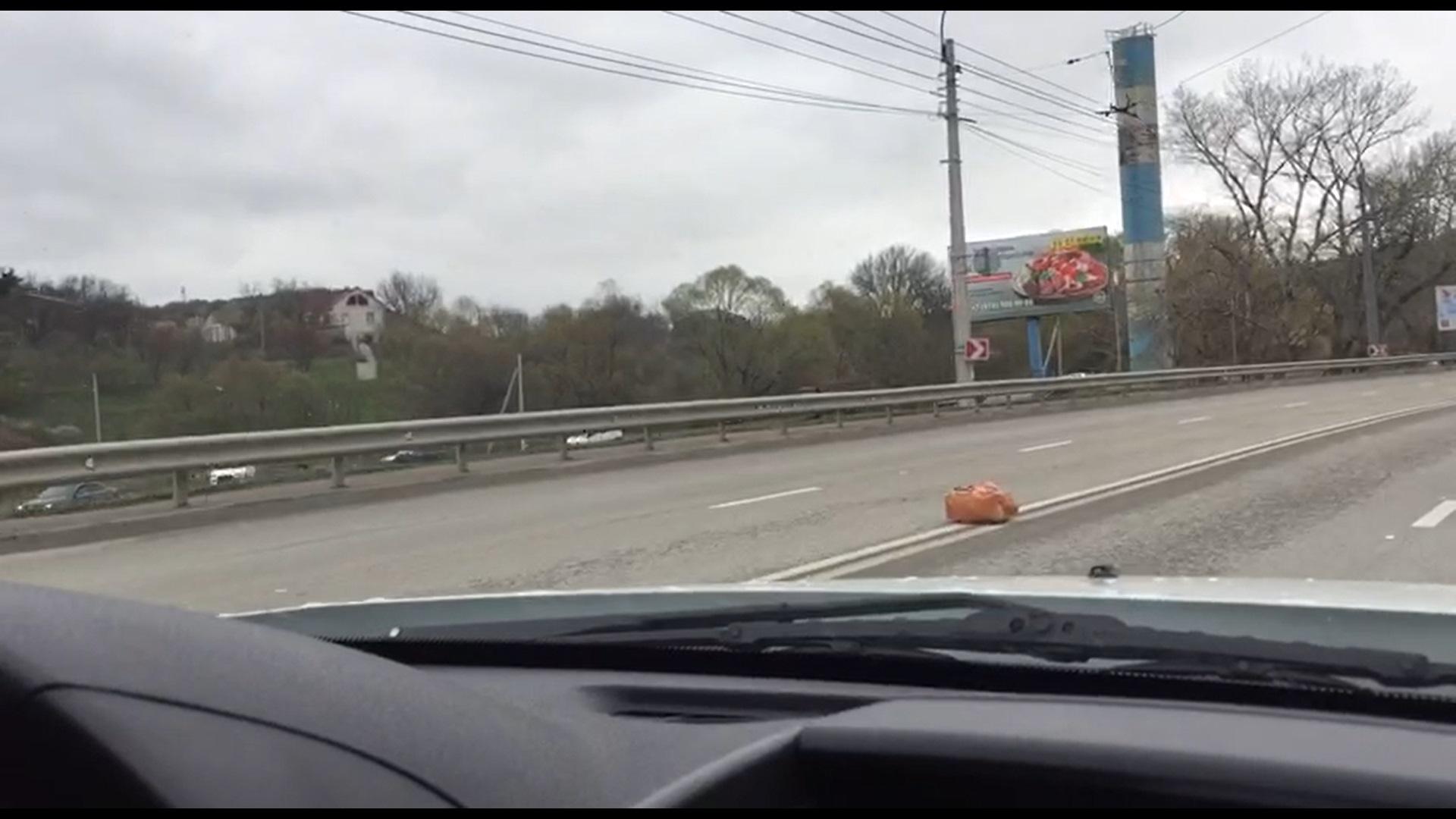 Ялтинскую трассу оцепили из-за подозрительного предмета